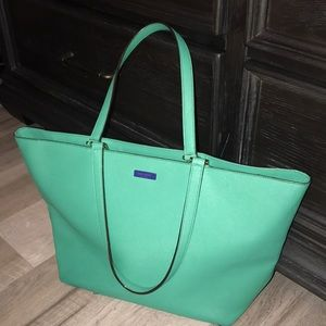 Kate Spade teal/green tote bag